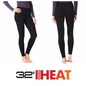 NEW!  32 Degrees Heat base layer pant in black (L)